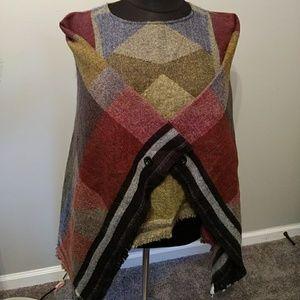 Rue 21 shawl poncho sweater